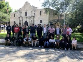 Kids enjoying the Alamo