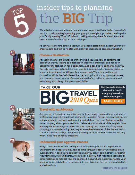 Tip for planning the Big Trip
