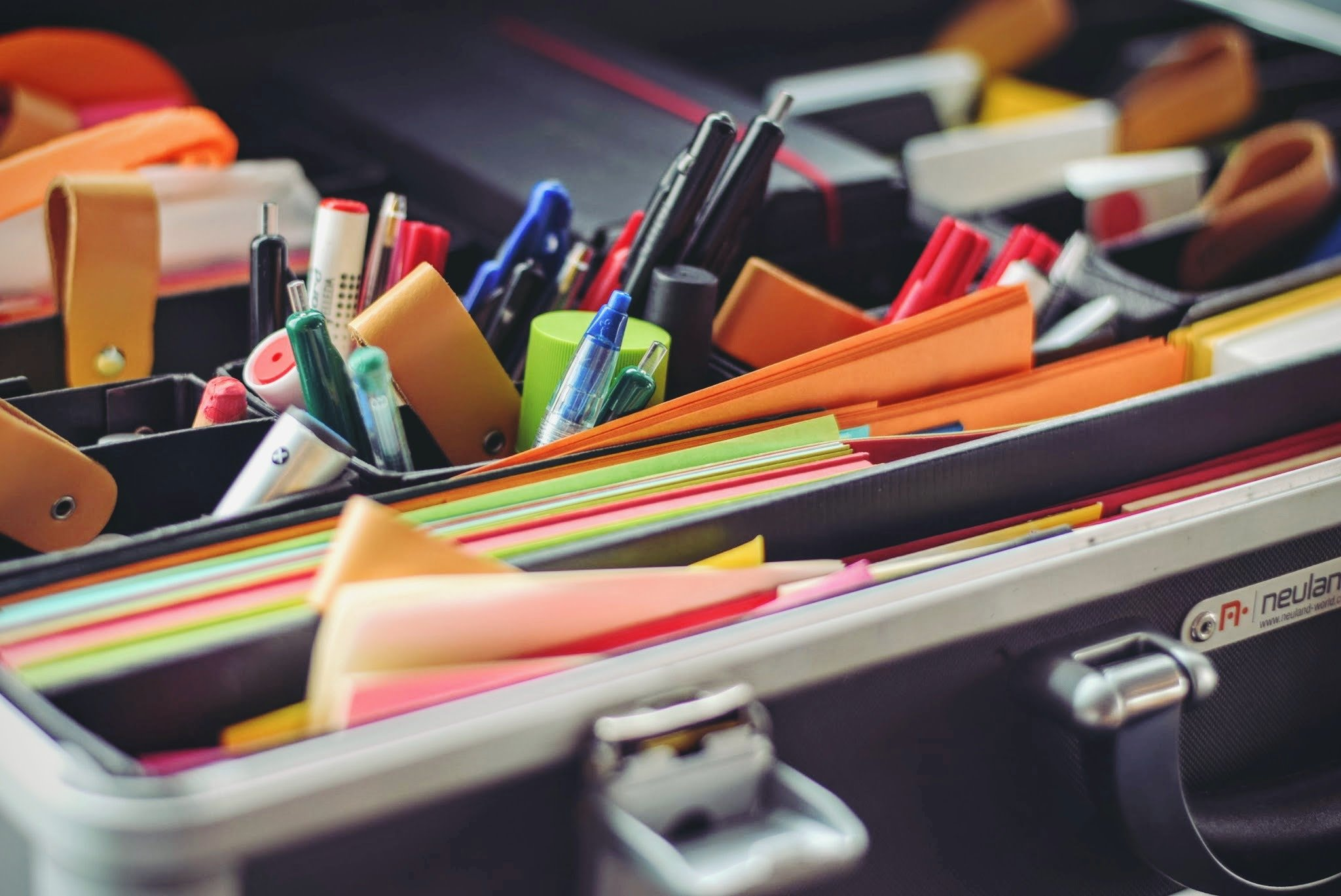 Get Organized - papers and pens